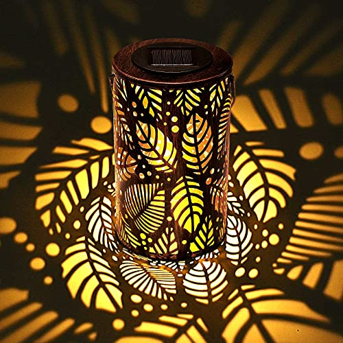 ROVLAK Solar Laterne LED Solarlampe für Außen Solarleuchten Garten Hängend Solarlampen mit Griff IP44 Wasserdicht Solarleuchten Balkon für Garten,Hof, Pfad, Balkon, Terrasse Dekorative