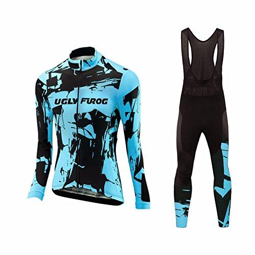 Uglyfrog Completo Abbigliamento Ciclismo Set 2018 Nuovo Donna Invernale, Tuta Ciclismo Termico Pantaloni Lunghi + Manica Lunga per Bicicletta Road Bike Moda WZ02