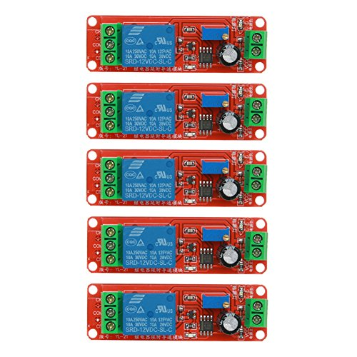WinnerEco 5pcs DC 12V Delay Relay Shield NE555 Timer Switch Adjustable Module