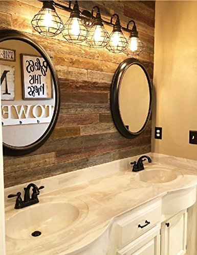 Real Weathered Wood Planks for walls - Rustic Reclaimed barn wood paneling for accent walls, easy Nail Up application- (23 SQUARE FEET)