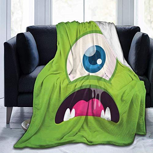 LAVYINGY Cartoon Monster-1 Happy Halloween Flannel Fleece Throw Blanket Living Room/Bedroom/Sofa Couch Warm Soft Bed Blanket (50'x60')