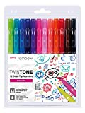 Set De 12 Rotuladores Tombow Twintone Brights