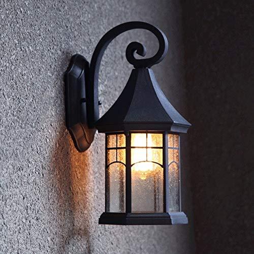 UOOK País Americano Retro Cuello de cisne Exterior Aluminio Impermeable E27 Aplique de pared Apliques Jardín Paisaje Luz Villa Balcón Luces externas Escaleras Exterior Puerta Entrada Entrada Linterna