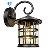Upgrade Dusk to Dawn Sensor Outdoor Wall Lantern, Exterior Wall Mount Lights and Outdoor Sconce Porch Light Fixture with E26 Socket,Anti-Rust, Anti-Rust, Waterproof, Suitable for Garage, Doorway, Barn