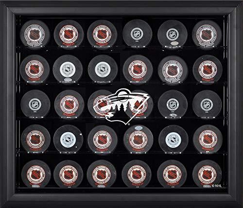 Minnesota Wild Framed 30 Hockey Puck Logo Display Case