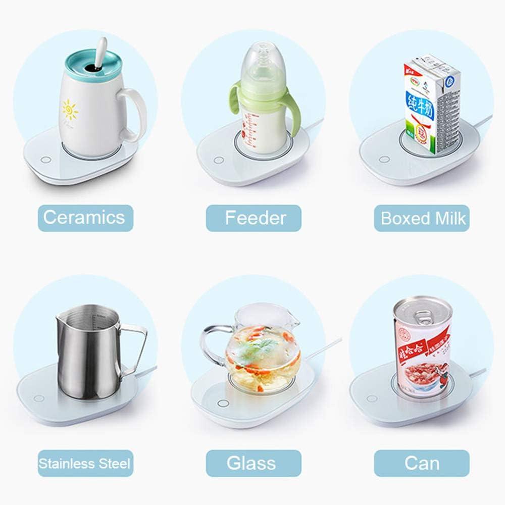 Calentador de Taza para Calentador de Taza de caf/é para el Calentador de Taza 55 Temperatura Constante Blanco