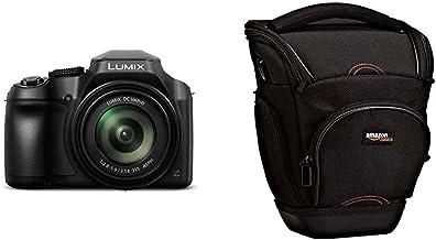 Panasonic Lumix DC-FZ82 - Cámara Bridge de 18.1 MP (Zoom de 60X, Objetivo F2.8-5.9 de 20-1200 mm, tecnología DFD, 4K, WiFi), Color Negro & AmazonBasics - Funda para cámara de fotos réflex, color negro
