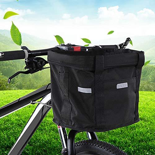 MYGYSJK Plegable MTB Mountain Bicicleta Extraíble Manillar Cesta Almacenamiento Pounch Carrier 1#