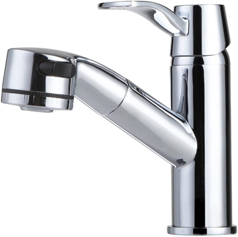 Good quality Water faucet basin mixer bathroom fine copper pull hot and cold basin faucet shampoo basin single hole basin mixer