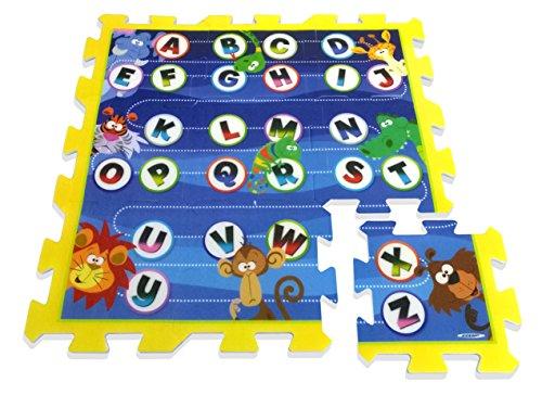 Stamp - Tp674002 - Puzzle De Sol - TAPIS MOUSSE - J'apprends L'alphabet En M'amusant - Tapis Mousse - 88 X 88 X 1,5 Cm - 9 Pièces