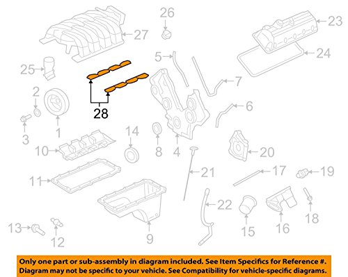 Price comparison product image Genuine Ford Motor Co Intake Manifold Gasket 4R3Z9439AA