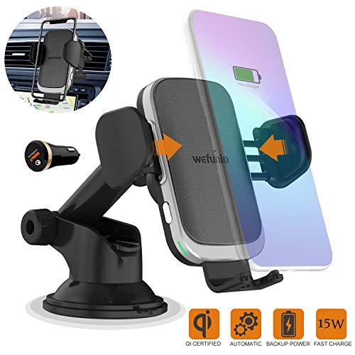 Wefunix 15W/10W/7.5W Qi Cargador Inalámbrico Coche Carga Rápida Sensor Automático para LG...