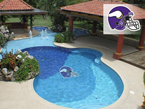 NFL Minnesota Vikings Helm Logo Pool Graphic Mat Small