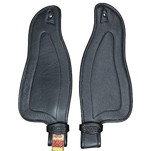 HILASON Replacement Leather Fenders Pair Horse Endurance Saddle Black