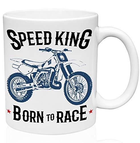 Yamaha yz490 speed king motorcycle 11oz Taza de café de cerámica de alta calidad