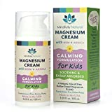 Magnesium Cream Pain Relief Cream for Kids - Body Cream Helps with Growing Pains, Sleep & Calming - 86% Organic Magnesium Chloride, Arnica & Shea Butter Formula - Great for Sensitive Skin 3.69 oz.