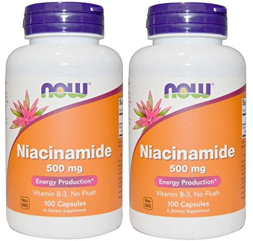 NOW FOODS, Niacinamide 500mg 100Capsules (2個セット) [並行輸入品]