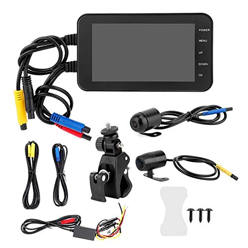 Aramox Motorcycle DVR,4 Inch Motorcycle DVR 1080P Waterproof WiFi...