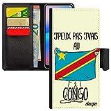 utaupia Coque Xiaomi Redmi Note 8 Pro Simili Cuir j'peux Pas j'vais au Congo de Protection Drapeau...