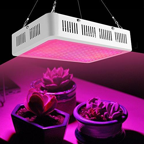 1200 W Wachstumslampe, Pflanzenlampe, Vollspektrum, LED, Grow Light, 120 LEDs, gute Wärmeableitung, für Zimmerpflanzen, Veg Blume, Gartenbau, Hydrokultur.