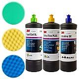 3M Kit de Polissage (pâte de polissage Fast Cut Plus XL, liquide de lustrage extra fin, liquide...