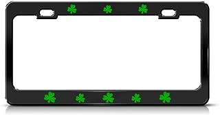 Speedy Pros Metal License Plate Frame Shamrock Green Irish Ireland Style A Car Accessories Black 2 Holes