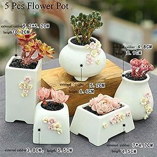 Ceramic Flower Pot Succulent Pots Cactus Pots Planter Garden Pots Ceramic Pot Outdoor Garden Home Decoration windowsill (Color : Lavender, Sheet Size : Medium)