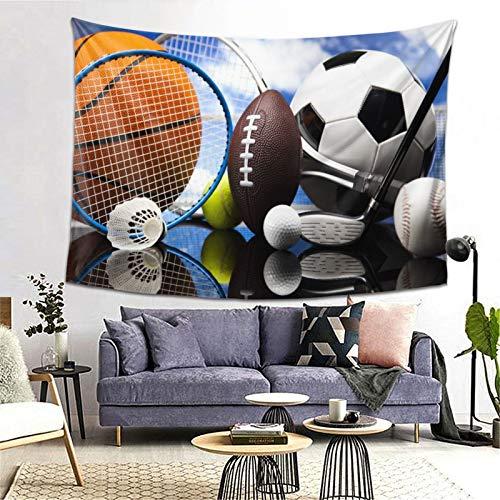 PATINISA Tapiz de Regalo,Equipo Deportivo Fútbol Fútbol Dardos Hockey sobre Hielo Béisbol Baloncesto Impresión de Imagen,Tapiz Bohemio diseño para Colgar en la Pared,Sala de Estar Dormitorio 60x51in
