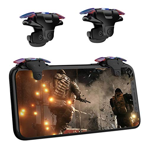 Newseego PUBG Mobile Game Controller, Mobiltelefon Spiel Tigger Empfindliche Game Joysticks Universal Version für PUBG/Knives Out für Android & IOS - 1 Paar, Schwarz