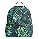 Leaf Tropical Green - Mochila de verano para mujeres, adolescentes, niñas, bolso de moda, para viajes, universidad, casual, para niños