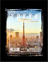 【FOX REPUBLIC】【東京 TOKYO 東京タワー 風景】 黒マット紙(フレーム無し)A3サイズ