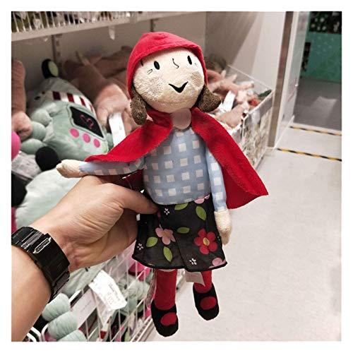 DONGMAI Plush doll 45cm new plush Grandma wolf 30cm Little Red Riding Hood toy stuffed wolf and grandma doll gift A great birthday gift (Color : 30cm Little Red)