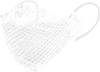 Gpure 5 Pcs Dentelle Crochet 𝐌𝐀𝐒𝐐𝐔𝐄 Sexy Tatouage Dentelle Coton Lavable Réutilisable Anti Brouillard Protection Con...