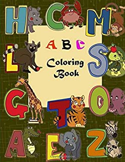 H C M L S G T O A E Z A B C coloring book: coloring the alphabet a to z for kids (animal drawing)