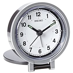 Seiko 3 Round Travel Analog Alarm Clock