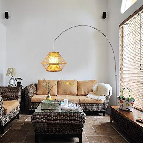 YISUNF Lámpara de pie Manual de lámparas de pie, Led creativo Pesca Salón de té del estilo chino decoración del hotel de la lámpara de la lámpara del restaurante Living Room, Eye-Cuidado Vertical luz