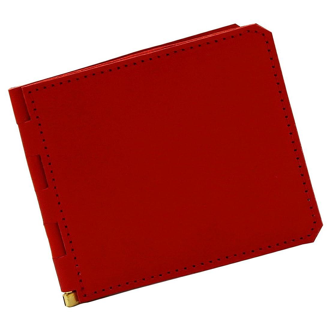 仕事爆発物多用途アジリティアッファ(AGILITY affa)『アジェンダ』マネークリップ 札入れ 財布 カードケース 革 レザー 蝶番 シンプル フラット