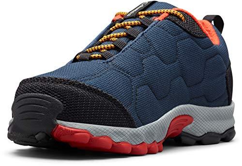 Columbia FIRECAMP SLEDDER 3 Zapatos multideporte impermeables para niños, Azul(Collegiate Navy, Flame), 39 EU