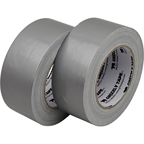 Grizzly Brand Professional Grade Duct Tape, 2-Pack, Silver Color, 11mil Thick, 1.88