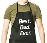 Funny Guy Mugs Best Dad Ever Adjustable Apron with Pockets - Funny Apron - Perfect For BBQ Grilling Barbecue Cooking Baking