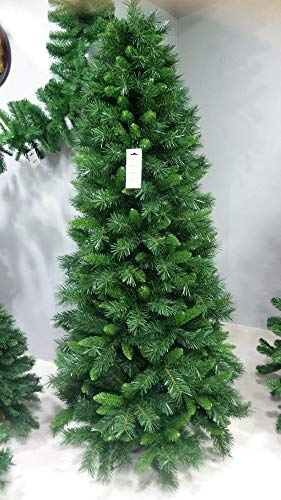 Salone Negozio Online Albero Di Natale Pino Sweden Slim CM.180 Rami In PVC Base CM.85 Interno/Esterno