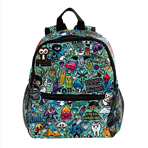 Rucksack für Jungen und Mädchen,Kinderschultasche für Kindergarten Vorschule Kleinkind Baby Kindergarten Reisetasche Cartoon-Puzzle