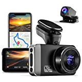 JOMISE D530 4K Dash Cam Front and Rear with Built-in GPS WiFi, 3' IPS Screen Dual Dashboard Camera with Sony Starvis Sensor, 170° Wide Angle, Enhanced Night Vision, Super Capacitor, Lapse Recording