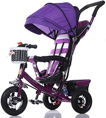 Babywagen Dreirad Baby Wagen fürrad Kind Spielzeug Auto Titanium Rad Schaum Rad fürrad 3 R r, Lila Faltbar    fürrad