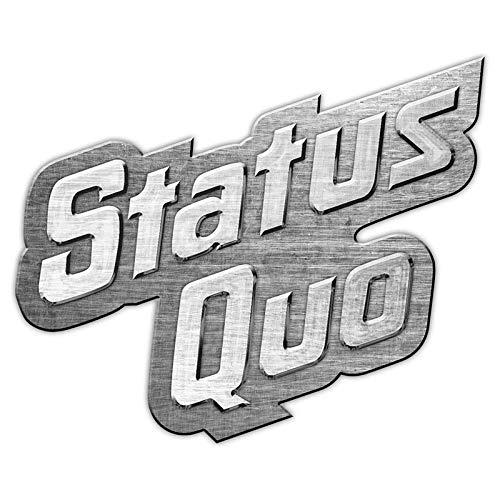 Status Quo METALL PIN # 1 LOGO ANSTECKER BADGE BUTTON - 4x3cm