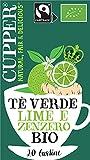 CUPPER Tè Verde Lime e Zenzero Biologico Fairtrade 20 bustine