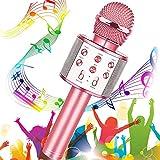 Micrófono Karaoke Bluetooth, Buty Microfono Inalámbrico Karaoke Portátil Niños Altavoces...
