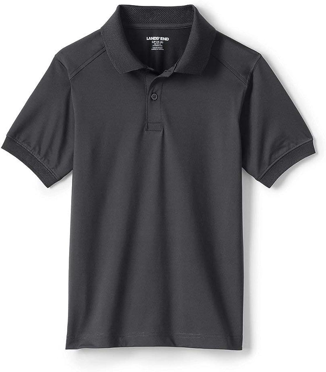 Lands' End School Uniform Little Kids Short Sleeve Rapid Dry Polo Shirt