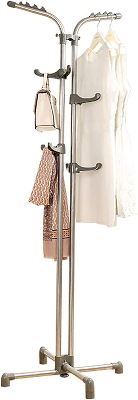 ZPWSNH Hanger Stainless Steel Hanger Floor Bedroom Simple Indoor Hanger Home Coat Rack, White 60 X 178cm. Coat Rack