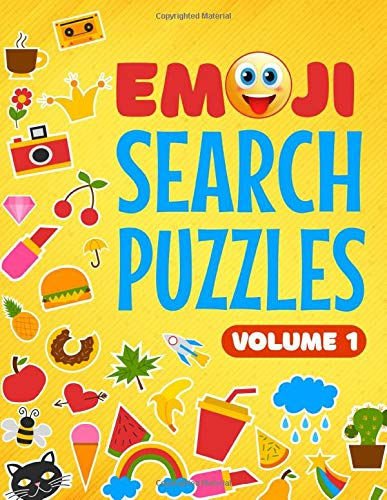 Emoji Search Puzzles: Emoji word find puzzle book for adults and kids